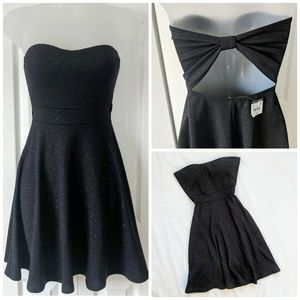 BODY CENTRAL NWT Strapless Black Sparkly Dress